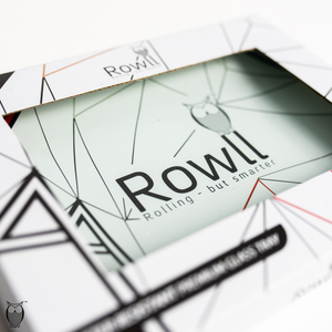 Rowll Signature Small Glass Rolling Tray & Get Rowll all in 1 Rolling Kit - Rowll - Rolling but smarter