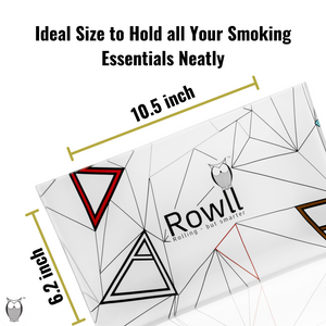 Rowll Large Glass Rolling Tray & Get Rowll all in 1 Rolling Kit