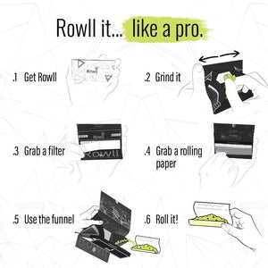 ROWLL all in 1 Rolling Kit Unbleached (5 PCS PACK) - Rowll - Rolling but smarter