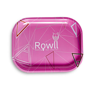 Rowll Pink Small Metal Rolling Tray - Rowll - Rolling but smarter
