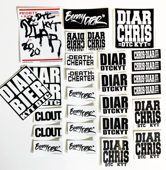 Benny DIAR - 2020 Mouth Painted Sticker - 20 Sticker Pack