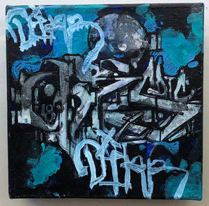 "6""x 6"" Mixed Media on Canvas - Benny Diar, Cristovoe Collaboration"