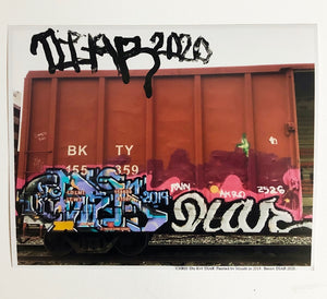 "Benny DIAR, Train Painted & Print Signed by Mouth - CHRIS x DIAR Limited 2020 Prints - 8"" x 10"" Photo Print"