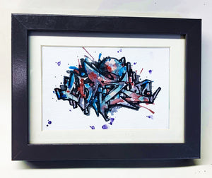 "4.25"" x 5.5"" Framed Original Painting by Chris Cristovoe - Watercolor Block"