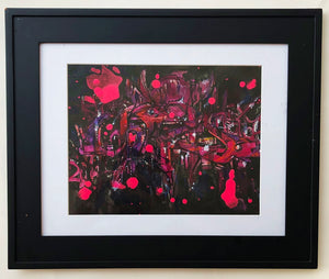 "9"" x 12"" Framed Original Painting by Chris Cristovoe - Acrylics, Watercolor & Other Makes Media"