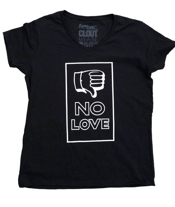 The Limited 'NO LOVE' Ladies V-Neck by CLOUT x Sean Barton
