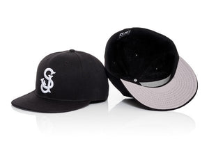 CLOUT 'SJ' San Jose FITTED Hat/Cap - Black w/ White