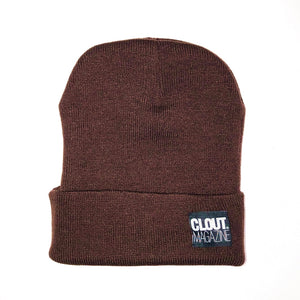 CLOUT MAGAZINE - Single Fold Knit Beanie - BROWN
