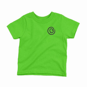 CLOUT Kids 'C' Symbol Tee - Youth Sizes - Lime Green Tee w/ Black Print