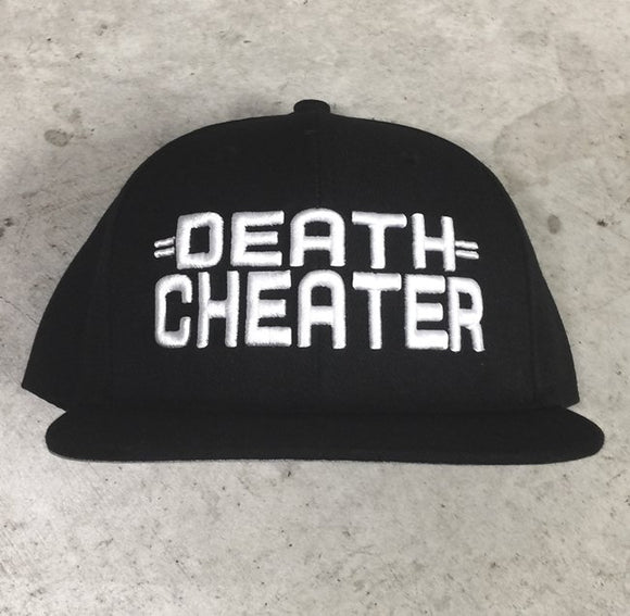 'DEATH CHEATER' LOGO SNAPBACK Blk/Wht by Benny Diar x CLOUT..