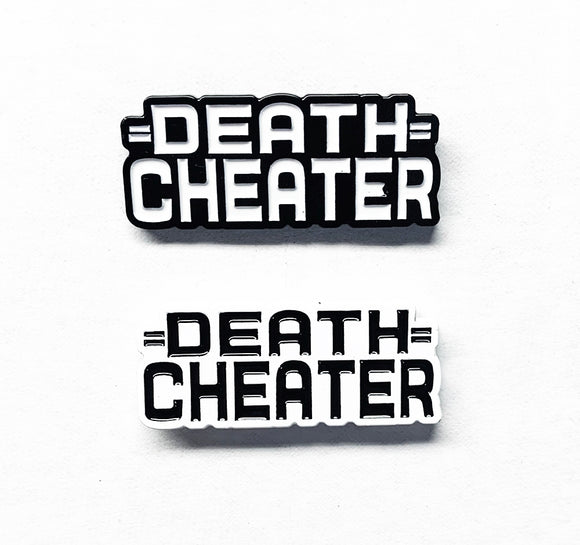 DEATH CHEATER Logo Enamel Pins - CLOUT Magazine x Benny DIAR, Sean Barton Design