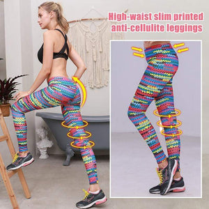 yoyoyoyoga Bottoms Rainbow / S High waist hip hair digital printing yoga pants