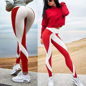 yoyoyoyoga Red / S Digital printing sports fitness pants yoga pants