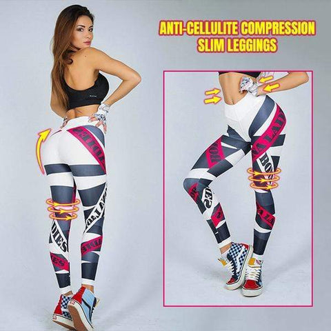 yoyoyoyoga White / S High waist anti-cellulite compression leggings