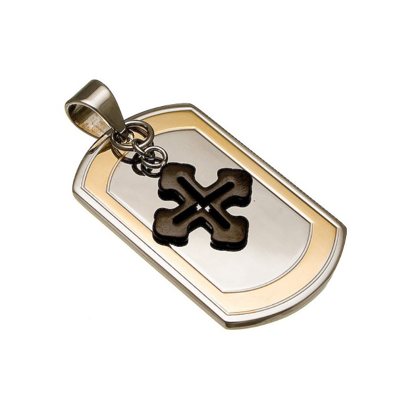 Cross & Dog Tag Necklace - Boutique109