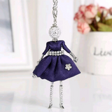 Girl Key Chain/Purse Charms (Blue) - Boutique109