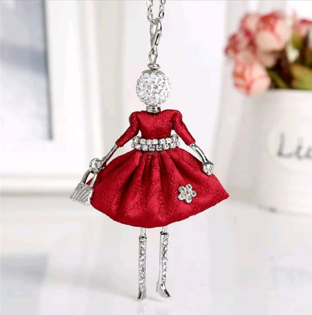 Girl Key Chain/Purse Charms (Red) - Boutique109