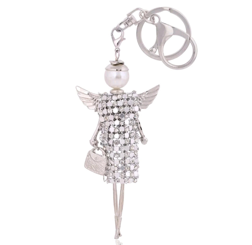 Girl Key Chain/Purse Charms (Silver) - Boutique109