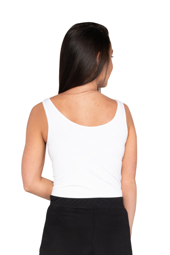 Strap Friendly Tank Top (White) - Boutique109