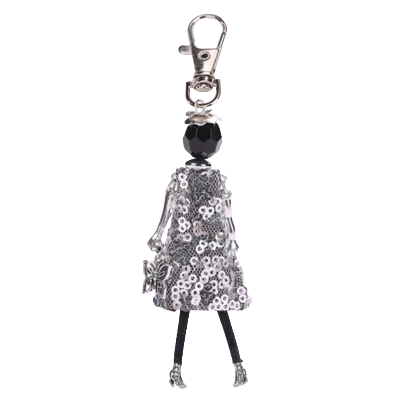 Girl Key Chain/Purse Charms (Hematite) - Boutique109
