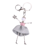 Girl Key Chain/Purse Charms (Silver/Pink) - Boutique109