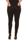 Pocket Ponte Pants for Women (Plus Size) - Boutique109