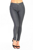 5 Pocket 4 Way Stretch Jeggings (Grey) - Boutique109