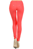 5 Pocket 4 Way Stretch Jeggings (Coral) - Boutique109