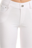 5 Pocket 4 Way Stretch Jeggings (White) - Boutique109