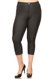 Plus Size Cropped Length Jeggings (Black) - Boutique109 Alpharetta Apparel and Accessories for Women