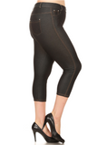Plus Size Cropped Length Jeggings (Black) Side View - Boutique109 Alpharetta Apparel and Accessories for Women