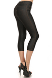 Cropped Length Jeggings (Black) Side View - Boutique109 Alpharetta Apparel and Accessories for Women