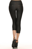 Cropped Length Jeggings (Black) Back View - Boutique109 Alpharetta Apparel and Accessories for Women