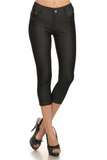 Cropped Length Jeggings (Black) - Boutique109 Alpharetta Apparel and Accessories for Women