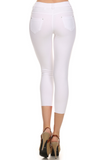 Cropped Length Jeggings (White) Back View - Boutique109 Alpharetta Apparel and Accessories for Women