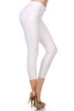 Cropped Length Jeggings (White) Side View - Boutique109 Alpharetta Apparel and Accessories for Women