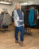 Tie Dye Wide Sleeve Top Blue Regular & Plus Size Side View - Boutique109 Alpharetta Apparel and Accessories for Women