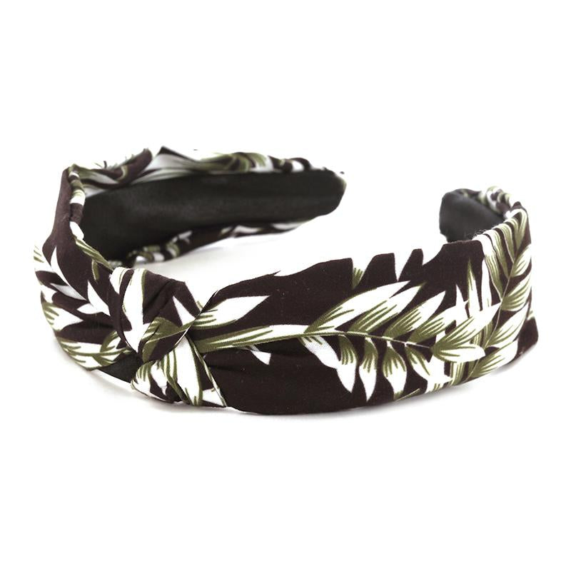 Palm Print Headband (Green) - Boutique109 Hair Accessories