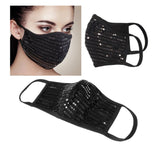Protective Mask Black Sequin - Boutique109 Alpharetta Apparel and Accessories for Women