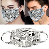 Protective Masks Newsprint - Boutique109 Alpharetta Apparel and Accessories for Women