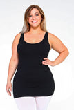 Strap Friendly Tank Top (Black) Plus size - Boutique109 Alpharetta Apparel and Accessories for Women