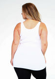 Smoothing Bra Friendly Tank Top - Plus Size (Charcoal) - Boutique109