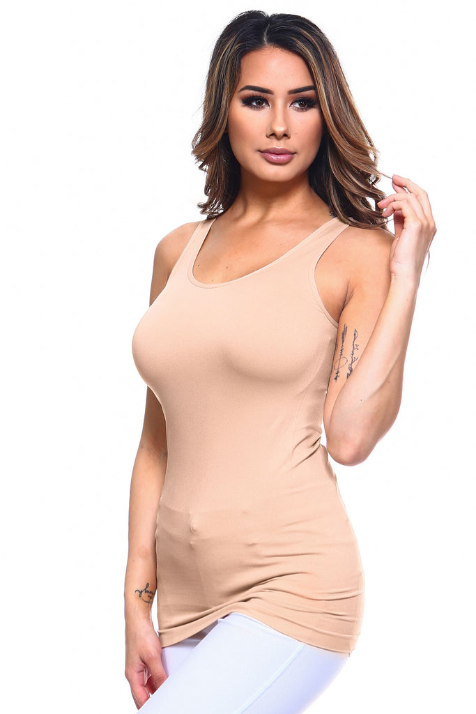 Strap Friendly Tank Top (Nude) - Boutique109