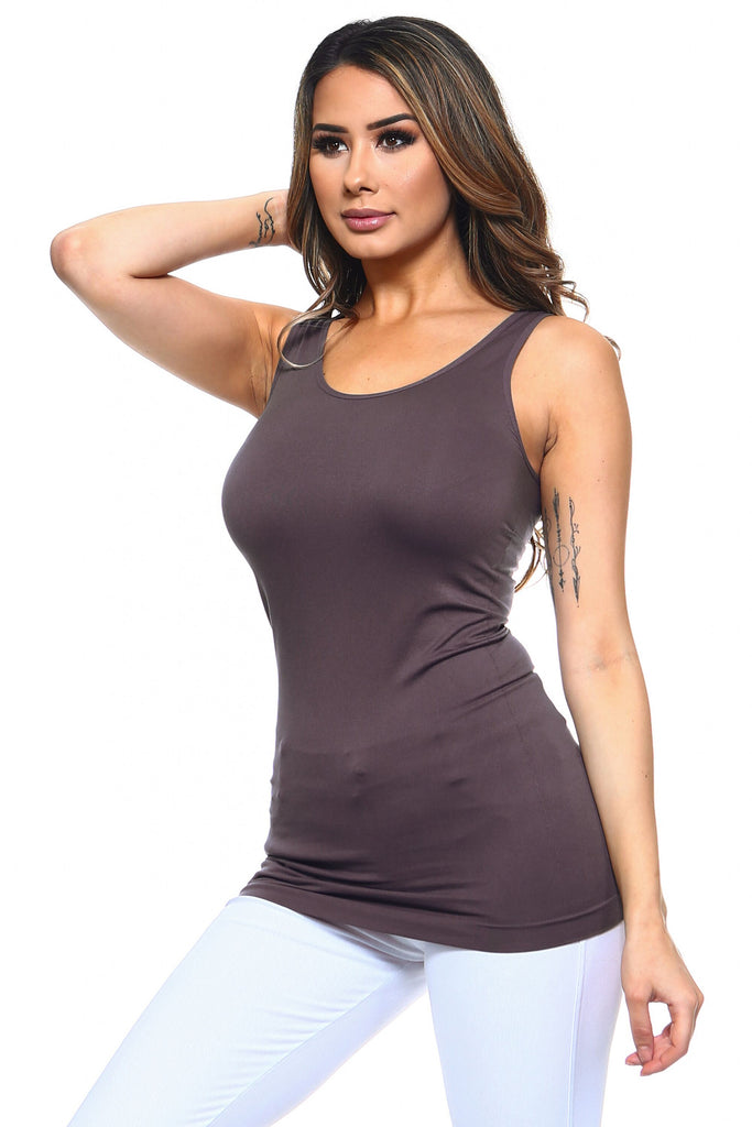 Strap Friendly Tank Top (Charcoal) - Boutique109