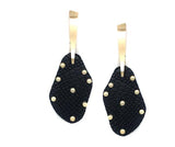 Studded Leather Earrings (Black) - Boutique109