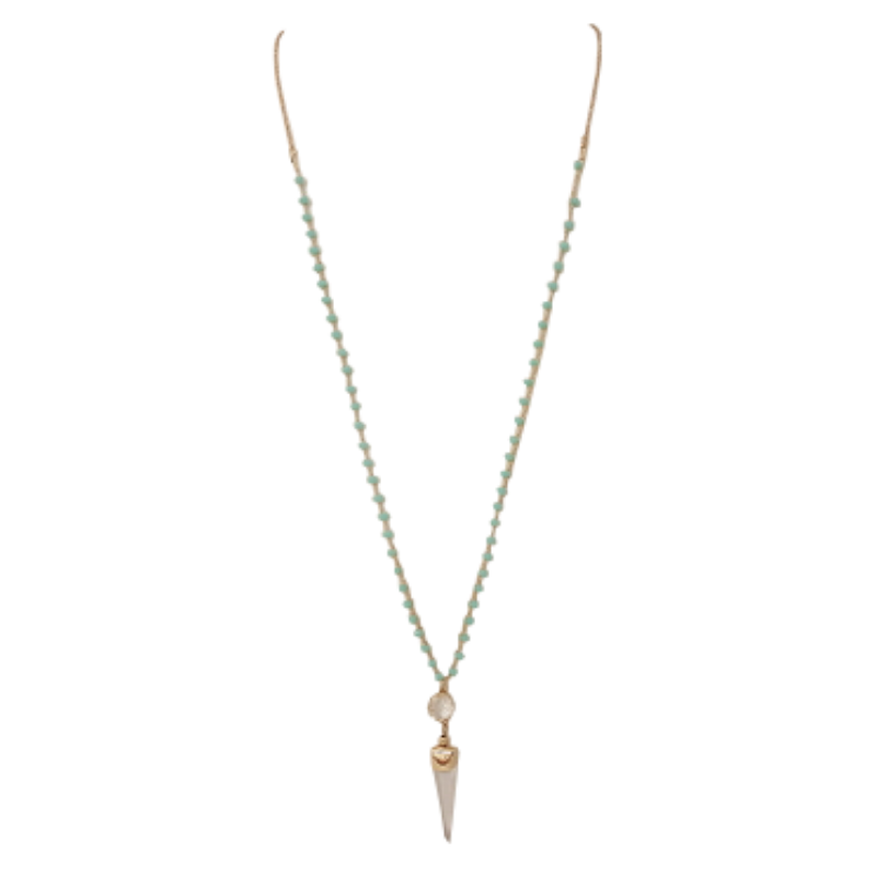 Semi-precious Necklace (Mint) - Boutique109