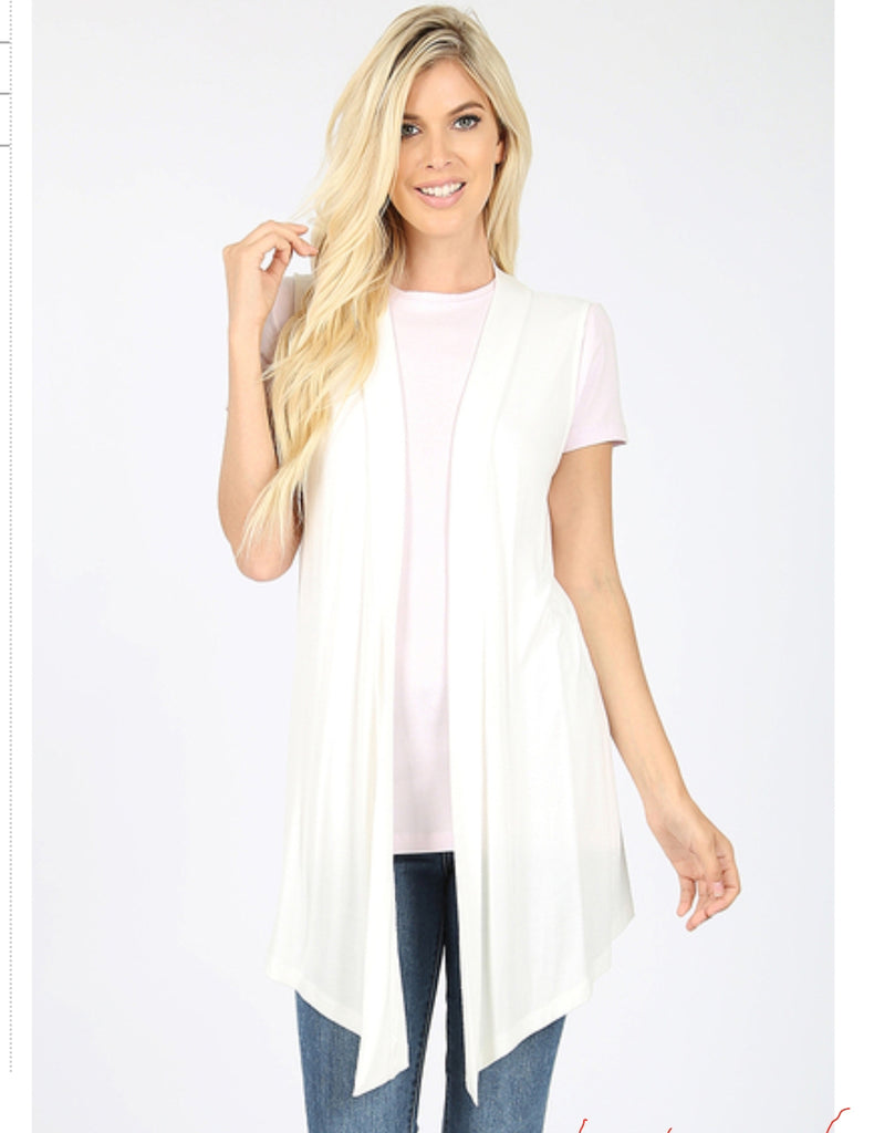 Soft Vest in Ivory