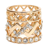 Set of 3 Stacking Bands w/Crystal Accents - Boutique109 Alpharetta Apparel and Accessories for Women