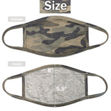 Protective Masks Camouflage Print Front & Back View - Boutique109 Alpharetta Apparel and Accessories for Women