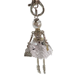 Girl Key Chain/Purse Charms (White) - Boutique109
